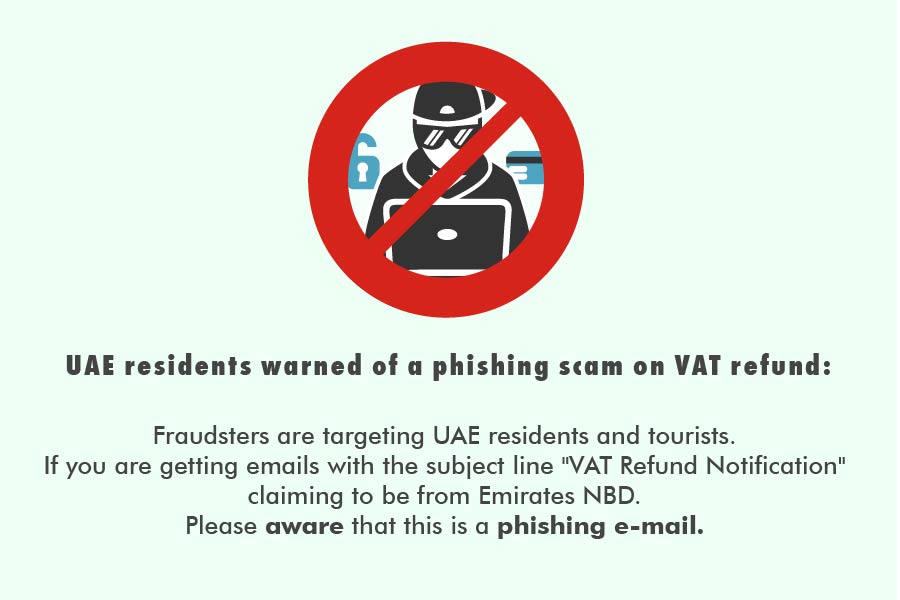 Phishing Scam - UAE Residents on VAT refund - AAB Website Blog